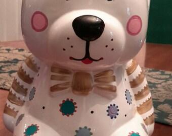 Large Ceramic College Fund Bear Bank