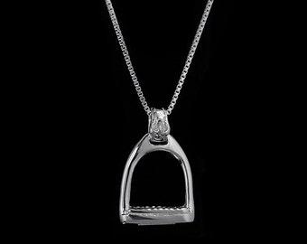 Equestrian Stirrup Necklace, Stirrup Jewelry, Stirrup Necklace, English riding necklace, English stirrup jewelry, horse necklace