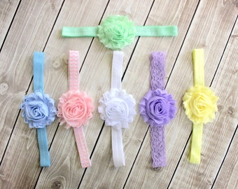 On Sale! Headband Set of 6, Baby Girl Headbands, Baby Headbands, Newborn Headbands, Infant Headbands, Lace Headbands, Baby Flower Headbands