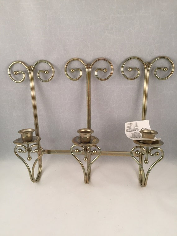 Gold Tone Candle Wall Sconces : Candle Wall Sconce Gold Tone Adjustable for Different Looks 3