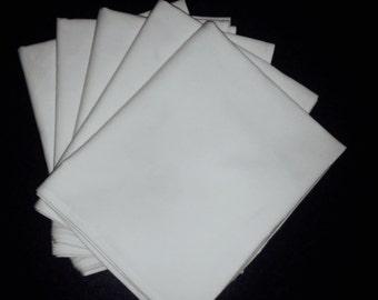 5 pieces of 100% premium plain white panama cotton tea towel ready for printing.