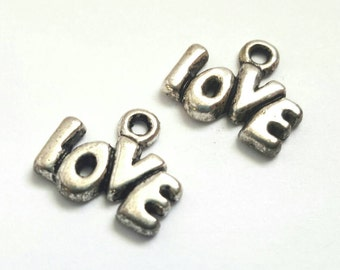 Seven Silver Love Charms - Valentine - Jewelry Supplies