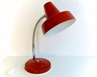 Vintage Desk Lamp, Gooseneck Lamp, Retro Style Lighting