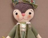 Fern the Kitten - Handmade Artist Doll