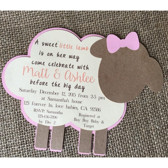 Lamb Baby Shower Invitation Lamb Invitation Lamb Baby By FalcoClan