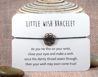Flower Wish Bracelet // Friendship Bracelet // Bracelet Favor