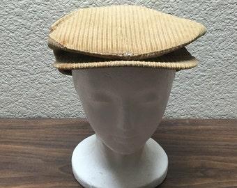 True Vintage Country Gentlemen Newsboy, Vintage Corduroy Newsboy, Vintage Corduroy Cap