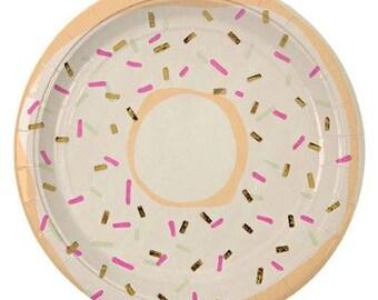 Foiled Doughnut Plate - Set of 8
