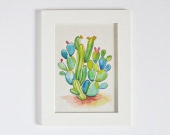 Cactus Art - Art Print on Handmade Paper - Cacti - Saguaro - Desert Art - Home Decor - Office Decor - Cactus Print