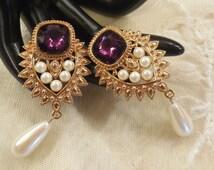 Vintage Jhaveri for Avon Elizabeth Taylor Imperial Elegance Collection Earrings
