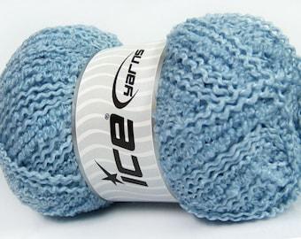 Ice Yarns Twister Wool Light Blue Yarn