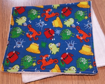 Cute and Bright Monster Burp Cloth