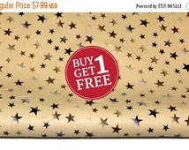 SALE Week Sale PU Faux Leather Fabric with Stars for Fashion and Crafts Supplies