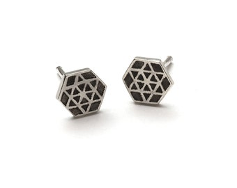 Six Point Silver Studs