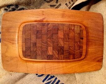 MID CENTURY, Teak DANSK Platter, Denmark designs