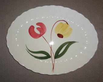 Blue Ridge Southern Potteries Dinnerware Shoo Fly Pattern Oval Platter