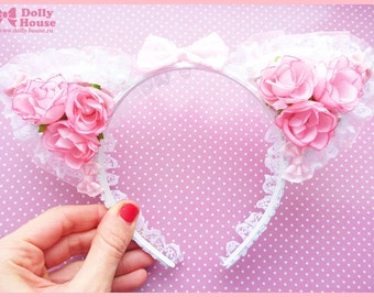 Kawaii princess style nekomimi headband by Dolly House