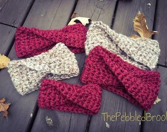 Crochet Ear Warmer, womens ear warmer, child ear warmer, baby ear warmer, gift for her, gift for baby girl