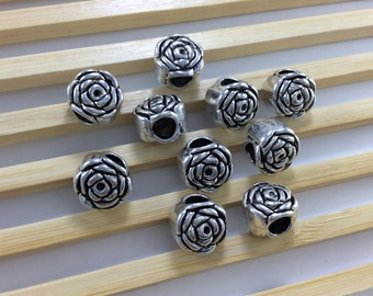 20 pcs (9mmx11mm)Flower Tibetan Beads For Making Jewelry Make Your Own Jewelry