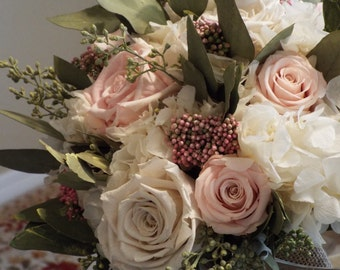 Prom Roses Roses for Bouquet Preserved Rose Bouquet  Simply Beautiful ! Preserved Victorian Roses Preserved* Pale Pink  Roses