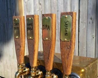 Reclaimed Wood Dry Erase Beer Tap Handle