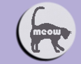 Animal Cross Stitch: Cat Goes Meow