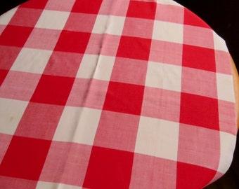 Vintage Red & White Square Table Cloth Dunmoy Picnic Cottage Kitchen Farmhouse Decor