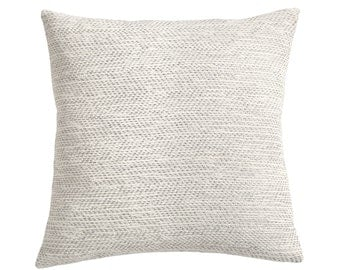 Woven Solid Grey Pillow Cover ikat Solid Grey Decorative Throw Pillow Cover in Pewter Euro sham Solid gray 24x24 26x26 Woven Barkcloth-K2P3