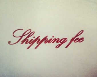 Shipping fee listing for Autumn