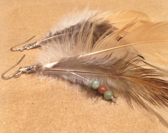 Natural Feather Earrings 1