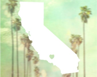 Decal - California LA Sticker - Car Decal, Laptop Decal, Macbook Decal, Ipad Decal