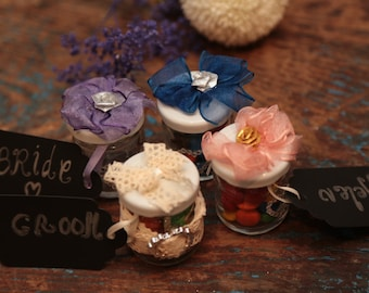 Wedding Favour Jars (With Place Name Tag) - Packs of 20