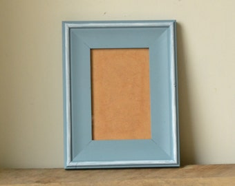 Coastal Blue Photo Frame with White Accents 6x4