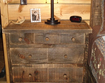 Reclaimed Wood Tall Nightstand