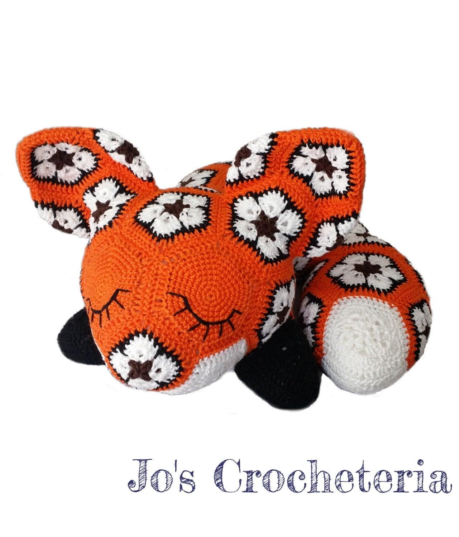 African Flower Amigurumi Free : Megan the African Flower Fox Crochet Pattern by by ...