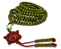 Buddhist sandalwood prayer beads Mala Tibet Handmade wrap wood bracelet