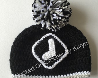 Crochet Chicago White Sox Hat