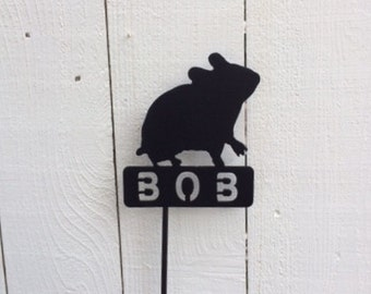 Hamster Memorials, Pet Memorials,Pet Memorial, Memorial,Metal Signs,Metal Pet Memorials, Hamsters Grave Marker, Signs