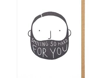 Smiling So Hard For You Letterpress Card