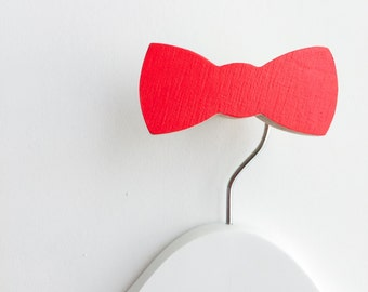 Wall Hook Bow Tie Red