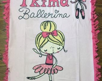 Ballerina Fleece Tie Blanket
