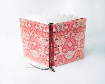 Red Vintage  - Coptic Journal, Notebook, Sketchbook