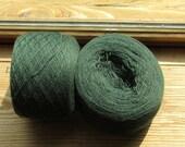 DARK MOSS GREEN 100%  Merino Wool 3190 yards recycled yarn