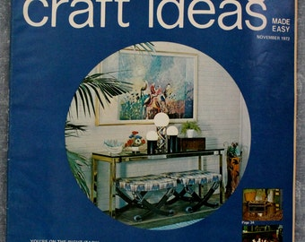 Decorating Crafts Magazine November 1972