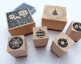 Stamp set Christmas modern Christmas