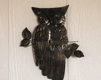 Vintage Metal Owl Wall Hanging
