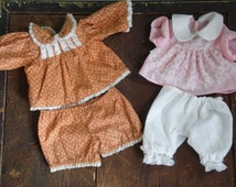 Doll Clothes/Clothes/Vintage Clothes/Clothes Sets/Handmade Doll Clothes/Vintage Doll Clothes/Doll Pants/Doll Shirt/Doll Clothing/Baby Doll