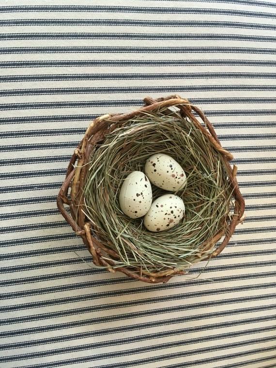 Bird nest farmhouse home decor shabby by diamondintherust for The nest home decor