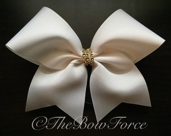 Solid White with Center Bling