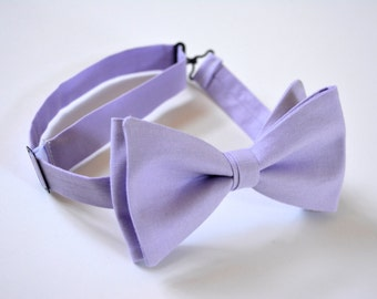 Bow ties for men lilac,purple linen bow ties for weddings,groomsman bow ties for weddings